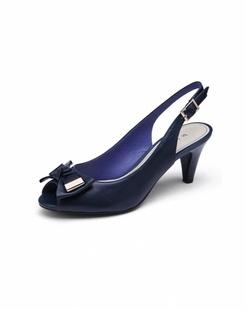 2014女款深蓝色时尚优雅高跟鞋