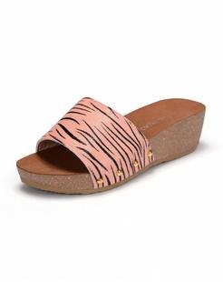 粉色牛皮拖鞋