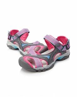 女款深灰/粉红色户外沙滩鞋