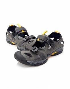 男款灰黑色户外休闲沙滩鞋