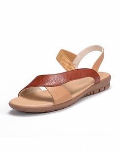 棕/驼色牛皮凉鞋