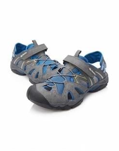 男款灰/蓝色户外休闲沙滩鞋