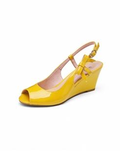 2014女款黄色高跟鞋