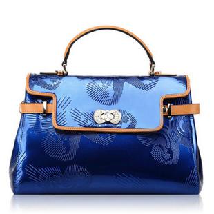 马连奴Marino奢华施华洛世奇水钻元素珍藏版女款宴会包 蓝色