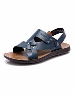 兰色时尚牛皮沙滩鞋