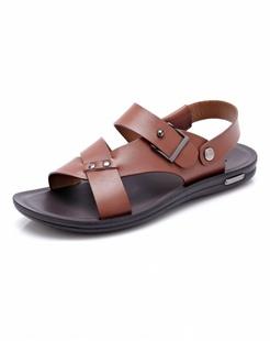 红棕色时尚休闲沙滩鞋
