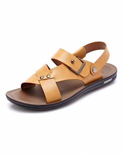 黄色时尚休闲沙滩鞋