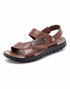 卡其色时尚休闲沙滩鞋