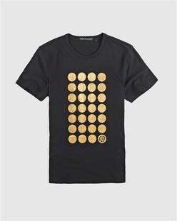 烫金波点印花短袖T恤