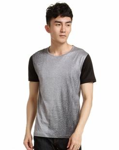 经典时尚黑灰色短袖T恤