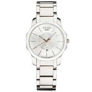 锐力(READ)手表时尚情侣手表原装进口石英机芯时装表时尚潮流R6012 白面钢带女表