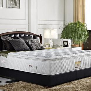 睡宝皇 天然乳胶床垫 双人单人独立弹簧床垫 柔软适中 可拆 白色1800x2000 梦瑾 床垫 1800x2000