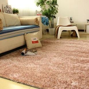 富居 韩国丝地毯地垫(驼色 140cm*200cm)
