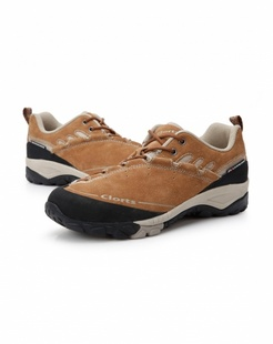男款棕色真皮鞋带休闲鞋