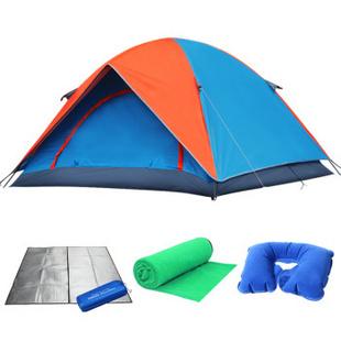 狼牙 户外帐篷3-4人防雨帐篷套装