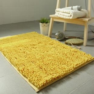 富居雪尼尔002tc 浴室卫生间厨房防滑门垫脚垫40cm*60cm(粉色)