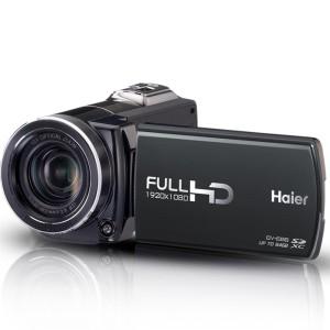 海尔(Haier) E68 数码摄像机 黑色(1600万像素 10倍光学变焦 3.0英寸16:9高清触摸屏 1080P高清摄像)