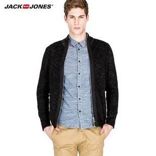 杰克琼斯JackJones立领男士针织衫B|213124011 黑/Black 170/92A/S