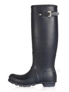 Hunter 女士简约防水雨靴(美国直发)