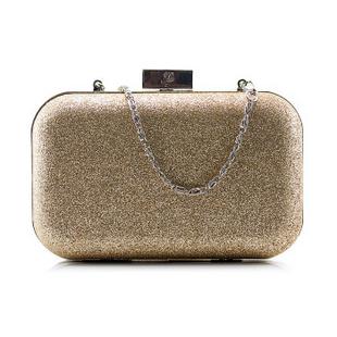兰蔻Lancome时尚手拿包化妆包 金色亮片晚宴包