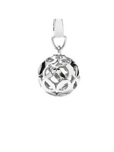 fossil 女士 镂空球形吊坠 JF00076040 银色