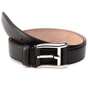 BALLY 巴利 男士黑色真皮针扣皮带腰带 FSCRIBE-30/210 6172251 XY 95CM