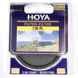 保谷(HOYA) CIR-PL SLIM 58mm专业超薄圆形偏光镜片