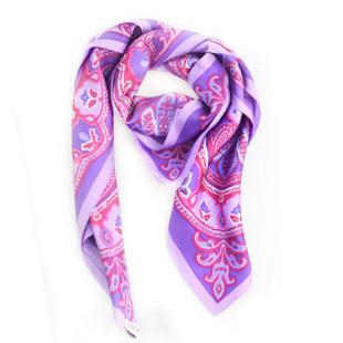 VERA 复古 印花丝巾 3522153 紫色 紫色