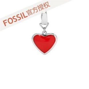 fossil 女士 红色心形吊坠 JF00181040 红色