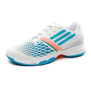 断码 adidas阿迪达斯2014新款女鞋网面伊万诺维奇减震耐磨超轻专业网球鞋D67186 亮白+太阳能蓝+亮光橙 36.5