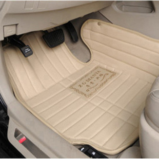 飞石 全包围立体皮革专车专用脚垫 丰田专用汽车脚垫 商务棕色 锐志
