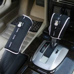 米菲 汽车排挡杆套手刹套 卡通内饰装饰 黑色 MFSJ-02B