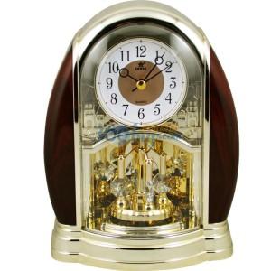 霸王(POWER)座钟 高级静音扫秒石英座钟金色4208ARKS2