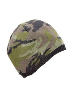 迷彩图案针织帽