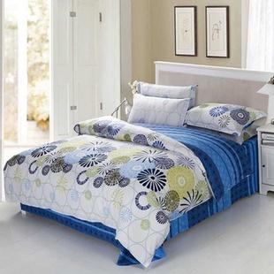 艾梦 12868高档床上用品四件套 被套 床单 一对枕套(邂逅 2*2.3m)