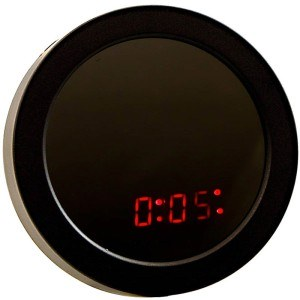 TIMESS 声控圆形多功能镜面闹钟 UI-0202黑色