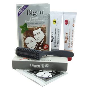 日本原装Bigen美源发采快速染发黑发霜884#(进口)天然棕色染发膏