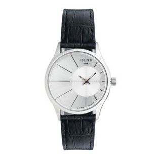 锐力(READ)手表偏心系列时尚超薄情侣表进口机芯石英表简约大气 R6007G 白面银框黑带女表