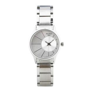 锐力(READ)手表偏心系列时尚超薄情侣表进口机芯石英表简约大气 R6007G 白面钢带女表