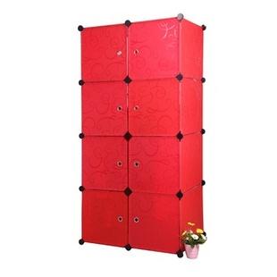 名门新贵 加大款式 8格组合收纳柜 DIY便捷组 多种颜色搭配 树脂材质(白色)