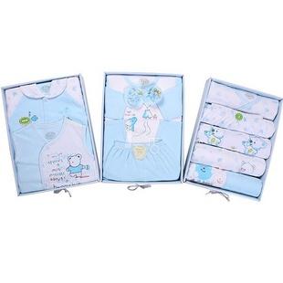 亿婴儿 豪华三层抽屉宝宝礼盒 蓝色 615 0-12个月