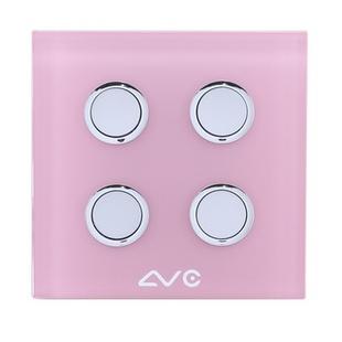 LVC8804A 钢化玻璃面板 如意贴开关4键(米黄)