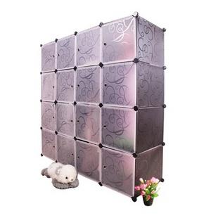 名门新贵 16格DIY 自由组合收纳柜 加大款式 健康家居首选 树脂材质(白色)