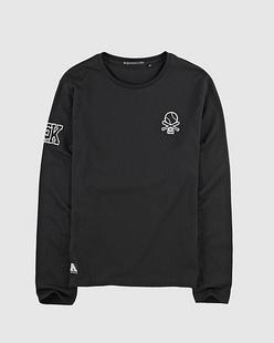 棒球植绒绣标长袖T恤