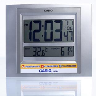 CASIO卡西欧塑料液晶电子挂钟 台钟ID-16-8DF ID-16-8DF灰色