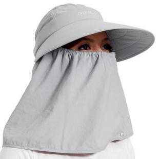 台湾UV100 抗UV防紫外线防晒钓鱼帽-五种戴法户外男女遮阳帽子 渔夫帽#12123 流星灰绳扣