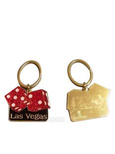 Ralph Lauren 中性 拉斯维加斯骰子图案钥匙扣 红色(美国直发)