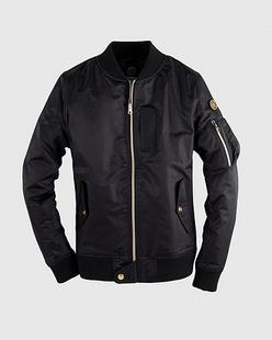 摩登美式足球印花夹棉飞行员夹克