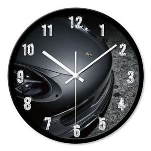 时光机 客厅创意挂钟汽车时尚保时捷概念超静音挂钟表下单立减HJ0009 黑色外框 12寸/30cm