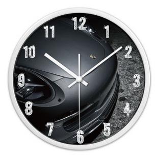 时光机 客厅创意挂钟汽车时尚保时捷概念超静音挂钟表下单立减HJ0009 白色外框 12寸/30cm